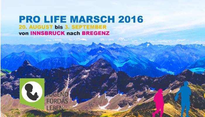 Komm mit zum Pro Life Marsch 2016…