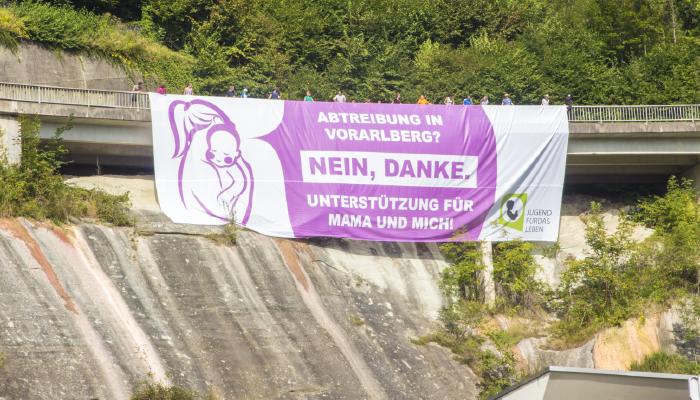 Pro Life Marsch 2016 endet mit Großplakataktion in Bregenz